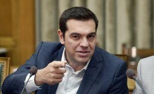 Le Premier ministre grec Alexis Tsipras lors du premier conseil des ministres du nouveau gouvernement le 25 septembre 2015 à Athènes