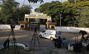 Le centre de police où ont été interrogé Ronaldinho et son frère à Asuncion, au Paraguay, avant d'être placés en détention.