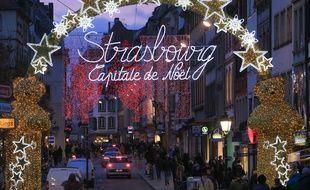 Strasbourg le 9 décembre 2014. Illustrations Noël, Marché de Noël de Strasbourg.