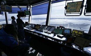 Des contrôleurs aériens à l'aéroport JFK, à New York (illustration).