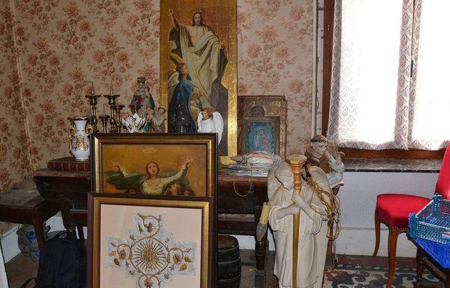 Lorraine: Lors d'une perquisition, les gendarmes tombent sur une impressionnante collection d'objets religieux volés