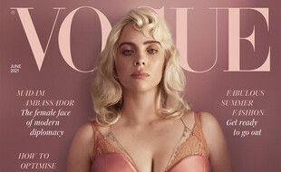 La chanteuse Billie Eilish en couverture du numéro de juin de l'édition britannique de «Vogue»