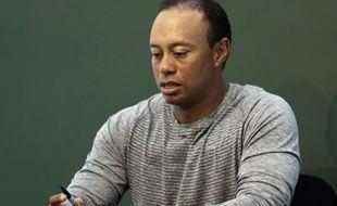 Tiger Woods à New York lors d'une séance de signatures de son livre, le 20 mars 2017.