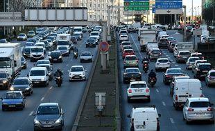 Des embouteillages sur le périphérique parisien (photo d'illustration)