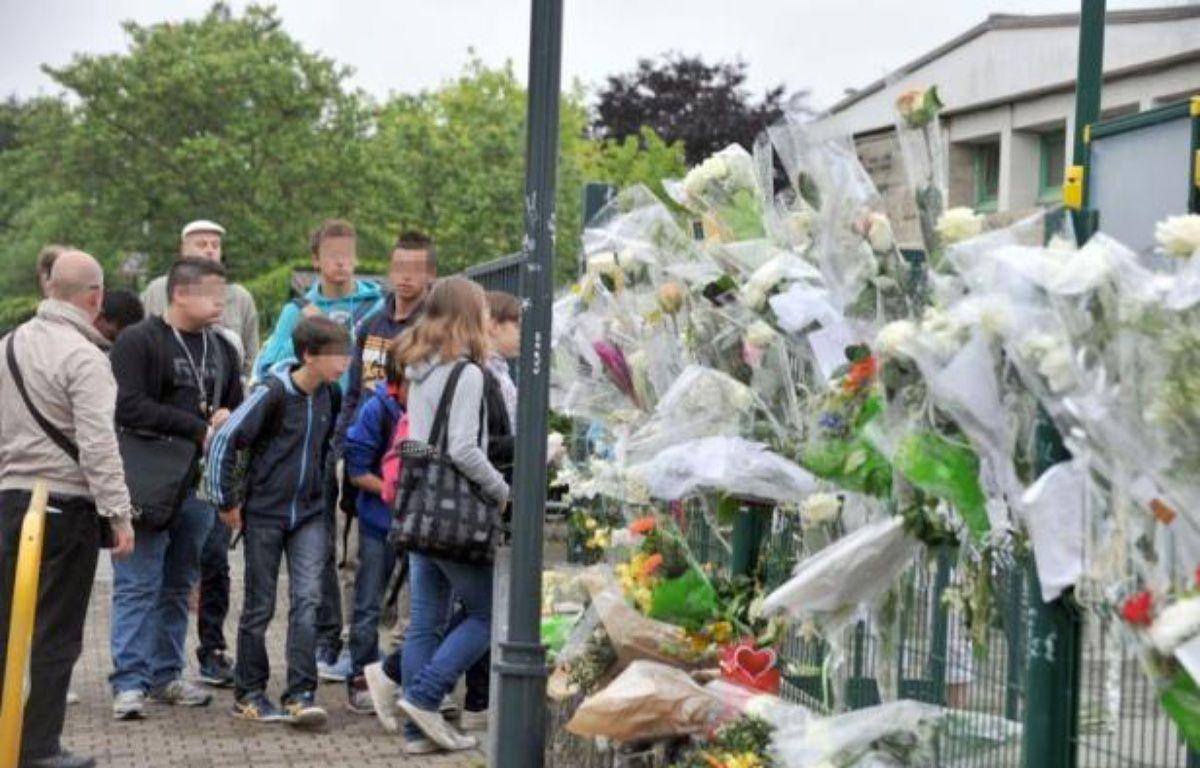 Les cours ont repris lundi matin au collège de Cleunay à Rennes, dont un élève de 13 ans est mort des suites d'une bagarre avec un autre collégien vendredi dans la cour de récréation. – Franck Perry afp.com