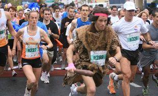 Le Marathon est aussi une occasion de se montrer. Archives.