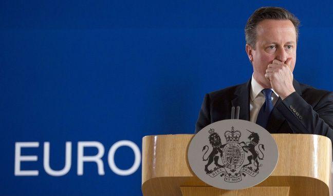 David Cameron, le Premier ministre britannique, lors d'un sommet à Bruxelles, le 26 juin 2015.
