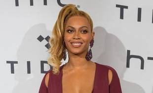 La chanteuse Beyoncé au Barclays Center de Brooklyn
