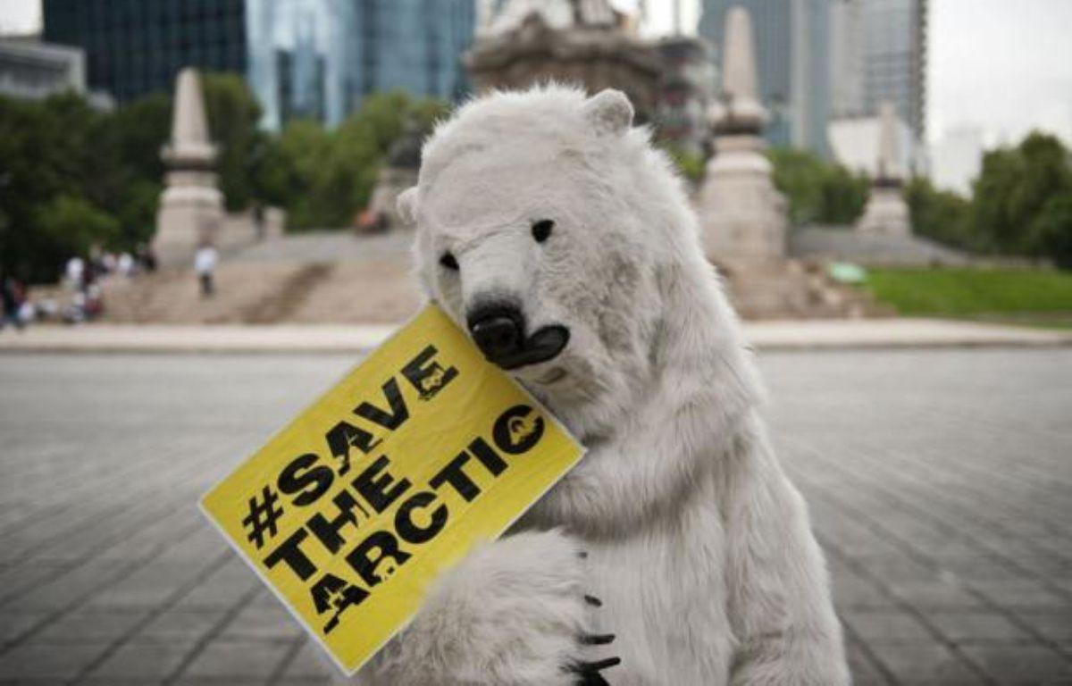 Greenpeace a lancé jeudi à Rio+20 une nouvelle campagne impliquant des acteurs, cinéastes, stars du rock et hommes d'affaires, pour faire de l'Arctique un sanctuaire vierge de forages pétroliers et de pêche industrielle. – Ronaldo Schemidt afp.com