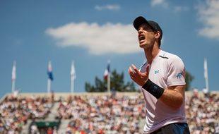 Andy Murray lors de son 2e tour à Roland-Garros contre Klizan, le 1er juin 2017.