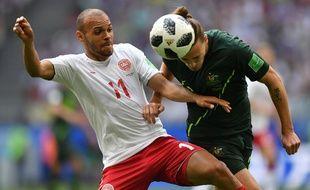 Martin Braithwaite est entré en jeu contre le Pérou et l'Australie dans cette Coupe du monde 2018.
