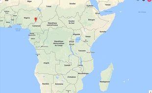 Carte du Cameroun. Illustration