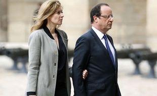 Valérie Trierweiler et François Hollande à Paris le 11 juin 2013.