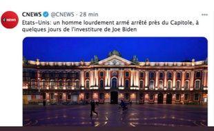 CNews a confondu deux Capitoles.