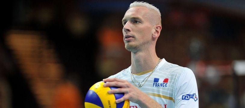 L'international Kévin Le Roux ici sous le maillot de l'équipe de France en 2018 à Katowice, en Pologne.