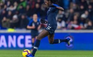 Aïssatou Tounkara lors du match France-Etats-Unis au Havre, le 19 janvier 2019.