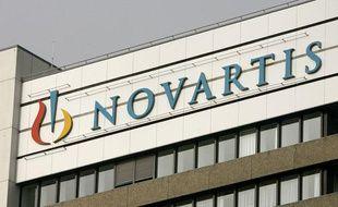 La façade du groupe pharmaceutique suisse Novartis. Le premier à être entré en possession du virus A(H1N1).