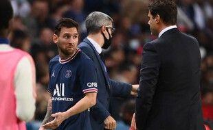 Messi est sorti à la 76e minute du match contre Lyon.