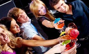Illustration d'une fête entre amis.