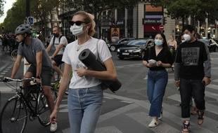Dans les rues de Paris, le 10 septembre 2020.