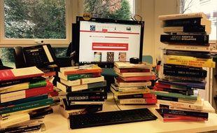 Si votre livre se trouve sur ce bureau, bonne nouvelle: j'ai posé mon vendredi pour bouquiner...
