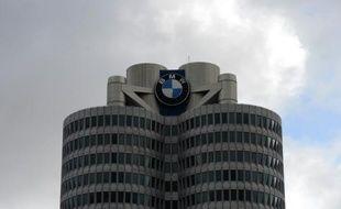 Le siège du groupe automobile allemand BMW.