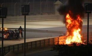 Romain Grosjean a été victime d'un terrible accident lors du GP de Bahreïn.