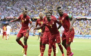 La joie des Ghanéens après un but contre l'Allemagne, le 21 juin 2014.