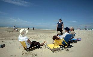 La plage du Touquet, dans le Pas-de-Calais.