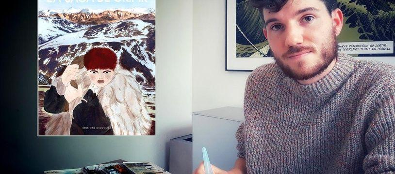 Jérémie Moreau et son album, La saga de Grimr