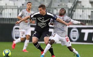 Nicolas De Préville a inscrit le but bordelais contre Nice.
