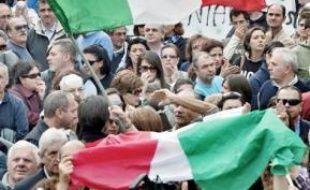 Manifestation à Terzigno, le 24 octobre.