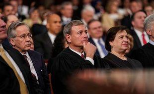 Le chef de la Cour suprême, John Roberts, lors du discours de Donald Trump sur l'état de l'Union, le 5 février 2019.