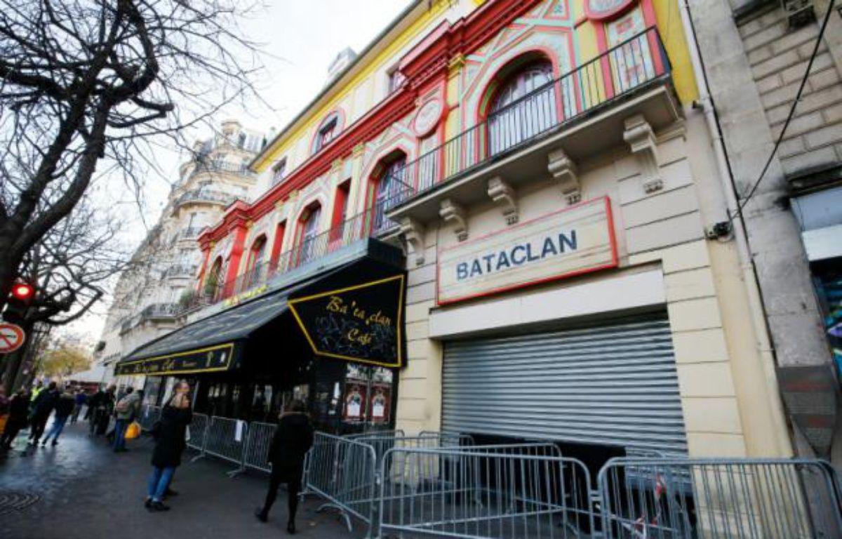 La façade du Bataclan à Paris, le 22 décembre 2015 – FRANCOIS GUILLOT AFP