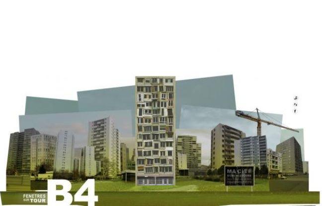 Page d'accueil du webdocu «B4, fenêtres sur tour».
