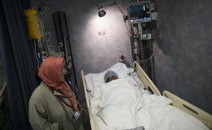 Un pélerin blessé aux urgences de l'hôpital de Mina, près de La Mecque, le 25 septembre 2015