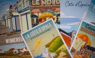 Les affiches de Wim' représentent des villes ou des territoires touristiques. Elles concernent désormais toute la France.