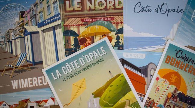 Lille: La France entière s'affiche façon vintage grâce à Wim'