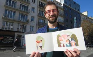 Carnettiste de mariage, Vincent propose des carnets de croquis pour les mariages.