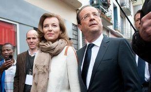 Valérie Trierweiler et François Hollande à Tulle le 6 mai 2012.