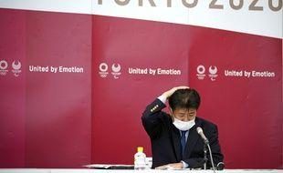 Hidemasa Nakamura, l'un des responsables de l'organisation des Jeux olympiques de Tokyo, le 28 mai 2021 lors d'une conférence de presse.