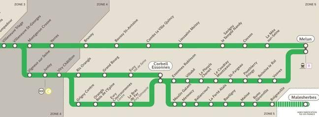 Les branches «Vallée», «Littoral» et «Malhesherbes» vont être séparés de la ligne D du RER en décembre 2018.