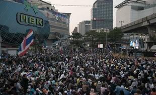 Manifestations à Bangkok en Thaïlande, le 16 janvier 2013.