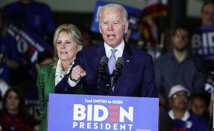 Joe Biden, le candidat démocrate à la Maison-Blanche, en meeting en mars. (archives)