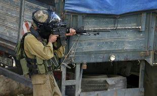 Un soldat israélien le 5 octobre 2015 à Bethléem