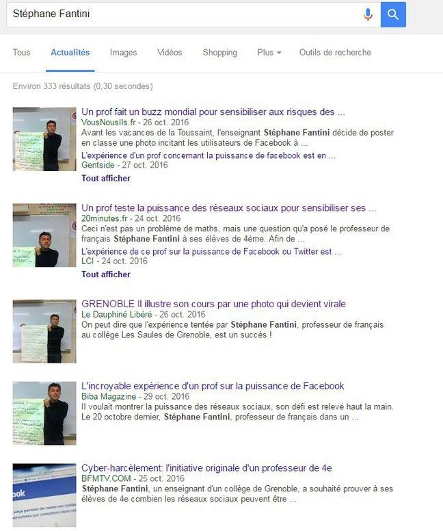 Quelques uns des articles qui remontent sur Google.