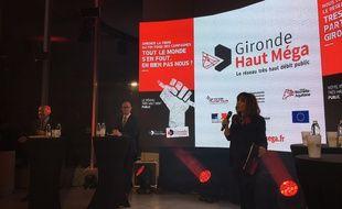 Présentation du plan Haut Méga du conseil départemental de la Gironde, le 25 janvier 2018.