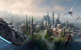 Vue d'artiste de l'univers Star Wars.