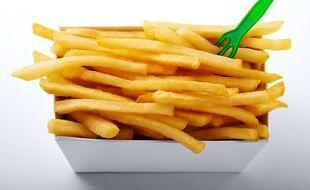 Illustration d'une barquette de frites.