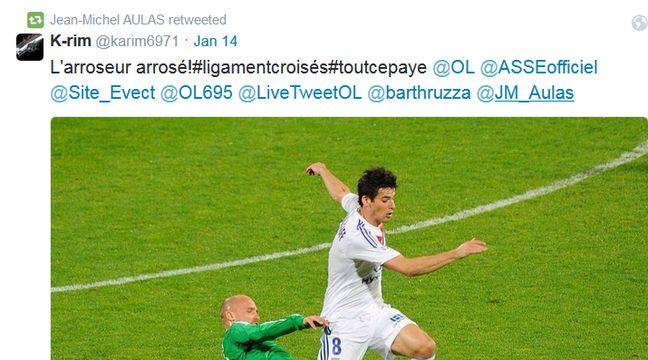 Capture d'écran d'un retweet de Jean-Michel Aulas – Twitter